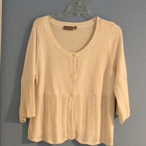 3/4 Sleeve Cotton Cardigan